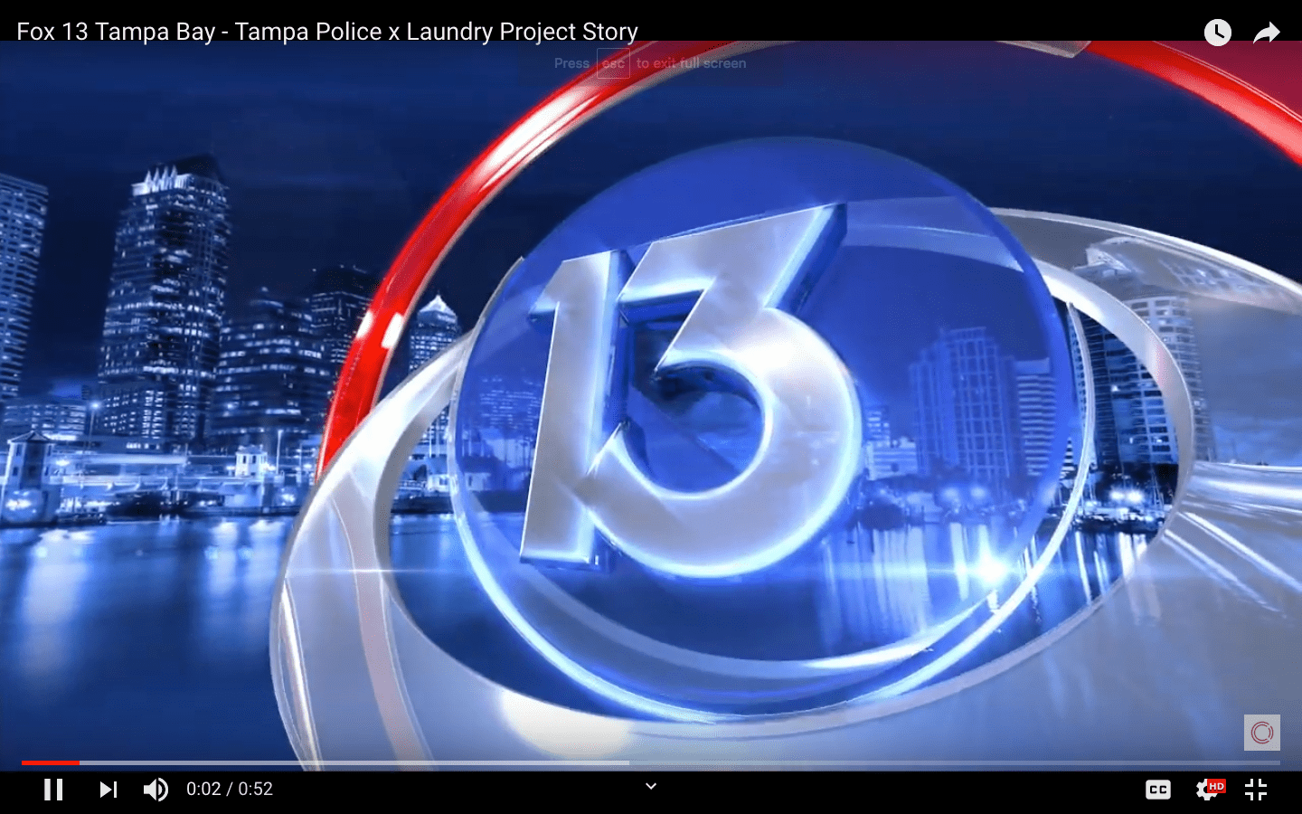Fox 13 Tampa Bay – Tampa Police x Laundry Project Story