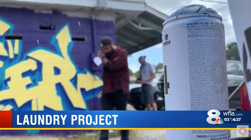 WFLA News Channel 8 – Laundry Project x CLEAN Mural Story
